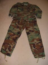 US Army Woodland Camouflage Coat + pants - Small/short top - Med/short pants
