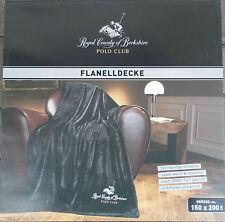 Polo Club - Flanell Decke - NEU - Original Verpackung - Schwarz - Kuscheldecke
