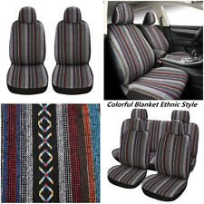 Car Seat Covers Front Rear Full Set Synthetic Linen 2.5MM Sponge For 5-seats