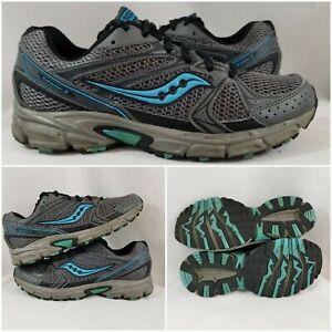 Saucony Grid Aura TR Baby Blue/Black Running Cross Training Shoes Womens 10