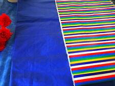bande1m,45x0,45 rayée toile +bleu assorti ,plastifié ,0,78x0,78