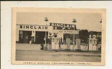Illinois - Cairo - Sinclair Gas Station - Jerrell Service - Coke Sign - Linen PC