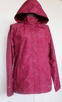 Eddie Bauer Weatheredge Womens Rain Wind Jacket Pink Hooded Size L