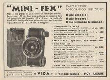 Z1116 Apparecchio fotografico MINI-FEX - Pubblicità d'epoca - 1933 Old advert