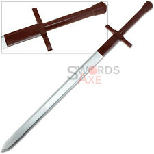"Witcher Wooden Longsword Geralts ""Steel Sword"" Replica Prop Cosplay LARP Weapon"