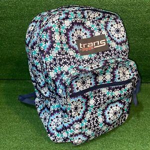 "Trans By JanSport 17"" SuperMax Girls Backpack - Navy Blue Tie-Dye"