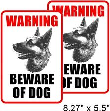 2 BEWARE OF DOG Window Door Wall Security Warning Vinyl Sticker Decal