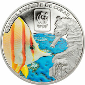 Central African 2015 Sea Horse 100 Francs Coin,Proof