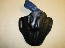 """FITS Ruger SP101 357 with 3.2"""" barrel, formed leather,owb, Pancake belt holster"""
