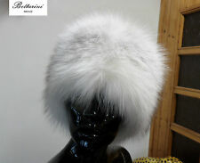 white FOX FUR HAT CAPPELLO COLBACCO in PELLICCIA di VOLPE FOURRURE renard PELZ