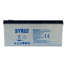 Batteria 200Ah 12V GEL Deep Cycle Syrio Power Fotovoltaico nautica camper