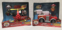 NEW 2 Set Ryans World Combo Panda Rescue Helicopter and Ryans World Fire Truck