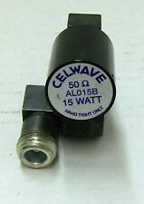 CELWAVE AL015B OR EQUAL 15 WATT RF LOAD WITH UG-27 TYPE N ELBOW 50 OHM