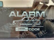 2x Mercedes-Benz 190E 16v W201 Pegatinas Alarma Antirrobo Ventana Cristal Código