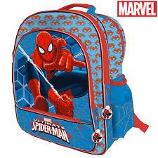 Zaino Spiderman 4 Cerniere Stampa Plastificata Scuola Bambini Elementari 41 cm