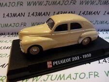 Voiture 1/43 IXO AUTO PLUS : PEUGEOT 203 1950 Crème