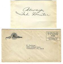 1950s TAB HUNTER MOVIE STAR - AUTOGRAPH w/ MAILER
