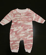 Baby Pink Camo Long Sleeve One piece Jump Suit 9 - 12 months Baby Infant