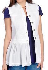 NEW Indigo Thread Co. Knit & Woven Sheer Flounce Hem Lace Detailed Vest - M