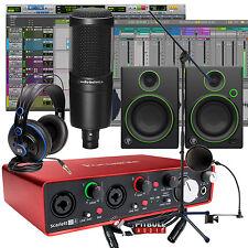Focusrite Scarlett 2i4 2nd Gen Pro Tools Mackie PreSonus Recording Bundle
