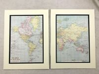 1920 Antique Prints World Map of The British Empire Colonies Colonial Territory