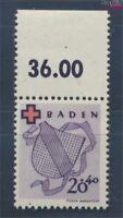 Franz. Zone-Baden 43A postfrisch 1949 Rotes Kreuz (7895849