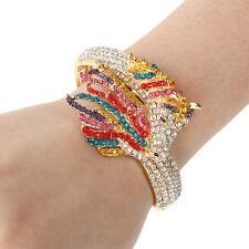 Fashion Horse Multicolor Full Austrian Crystal Bangle Cuff Animal Gold Tone Gift