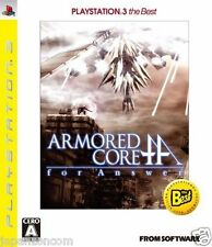 Used PS3 Armored Core: For Answer SONY PLAYSTATION 3 JAPAN JAPANESE IMPORT