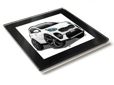 Cartoon Car Sportage GT Line Sport SUV Glass Table Coaster with Gift Box