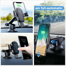 DC12/24V 5A Portable 2in1 Wireless Car Charger Phone Holder Bracket For iPhone X