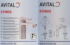 LED Armatur AVITAL Apollon chrom inkl Push-open-Ablaufventil Neu und OVP