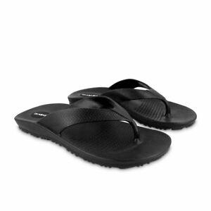 Mens OKABASHI Black SURF Flip Flop Retail $18.99 LARGE 8/8.5