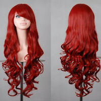 Women Girl Wigs Long Curly Wavy Straight Full Hair Wig Cosplay Party Fancy Dress