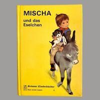 1970er Mischa und das Eselchen BRÖNNER KINDERBÜCHER 18,5cm Altes Kinderbuch RAR