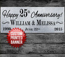 """25TH 50TH WEDDING ANNIVERSARY PARTY BANNER DECORATION 48"""" x 24"""""""