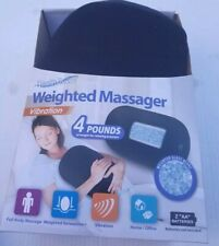 HEALTH TOUCH WEIGHTED MASSAGER VIBRATION 4 LBS WEIGHTED RELAXATION BLACK NEW