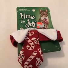 Time for Joy Small Cat Neck Tie Holiday Christmas  - One Size