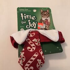 New! Petco Time for Joy Small Holiday Christmas Cat Neck Tie - One Size
