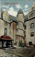 Muldenthal Sachsen 1922 Rochsburg Burg Schloss Schlosshof Ziehbrunnen Innenhof