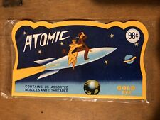 Vintage Sewing Needles Atomic Package Nos In Cellophane Sleeve Japan