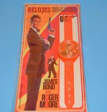 JAMES BOND 007 ROGER MOORE WATCH PLASTIC COLLECTIBLE SERIE TOY SEALED ARGENTINA