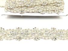 Stunning Crystal Bridal Belt Wedding Dress Sash Diamante Applique Beaded Trim