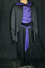 Black/Purple DARK LORD 4 Pc Hooded COSTUME Haunted House HORROR Evil Monster XL