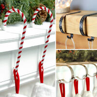 Christmas Stocking Hook Hangers | Fireplace Mantel Clips Holders Decoration