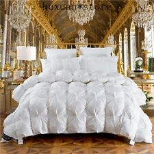 Luxury 100%Goose Down Duvet Full Size Comforter Winter Thick Blanket Solid Color