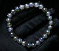 Gemstone Beads Bracelet Aaaa 7.5mm Natural Labradorite Rainbow Light