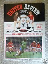 1984 MANCHESTER UNITED v TOTTENHAM HOTSPUR, 20 Oct (League Division One)
