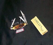 Camillus 70 Sword Brand Knife Handmade Indian Stag Handles W/Packaging Rare Set