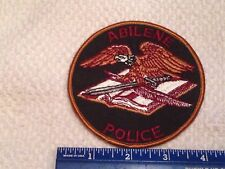 Old Abilene Texas Police Patch  Obsolete Design