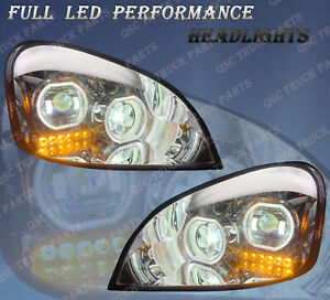 QSC Full LED Performance Headlight Assemblies Pair Freightliner Cascadia 08-17